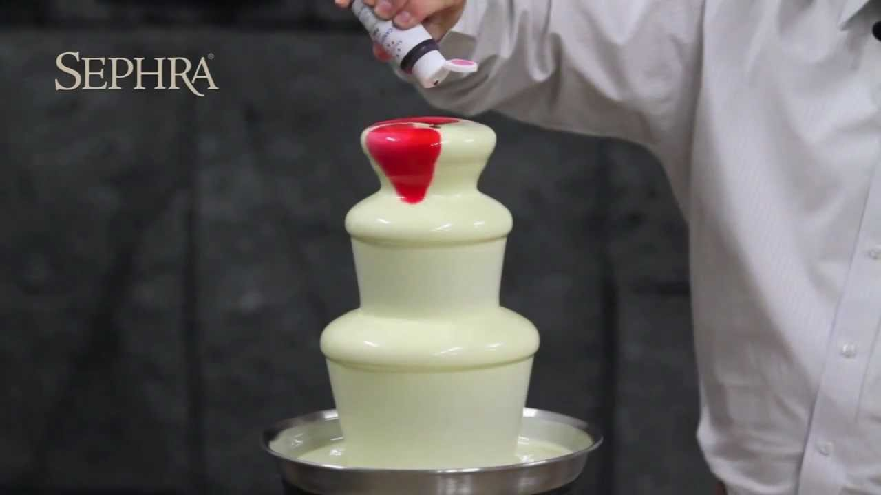 Sephra - How to Add Color to Your Chocolate Fountain - YouTube