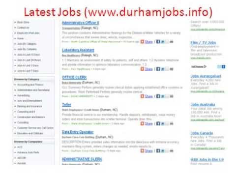 Durham Jobs Jobs In Durham Jobs City Of Durham Jobs Youtube
