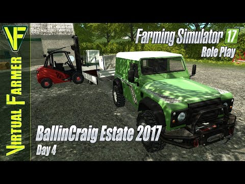 Supply Run & Spreading Fertilizer | BallinCraig Estate 2017, Day 4 | Farming Simulator 17 Role Play