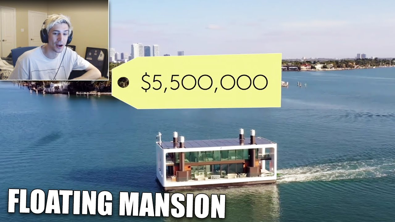 xQc Reacts to Inside a $5.5M Floating Mansion in Miami | On The Market | Architectural Digest