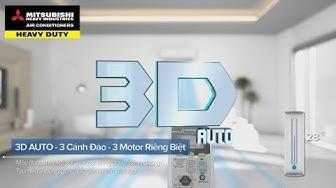 Điều hòa Mitsubishi Heavy - Chế độ đảo gió 3 chiều (3D auto)