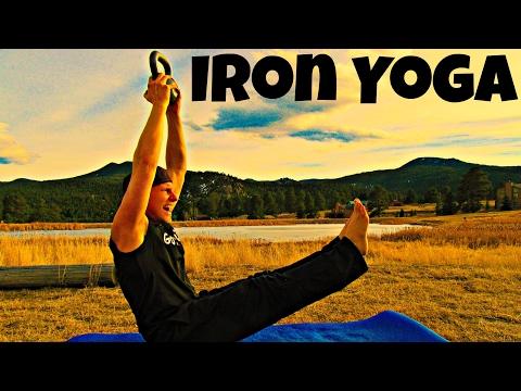 Iron Core Yoga Workout 2 Dumbbells/Kettlebell and a Yoga Mat