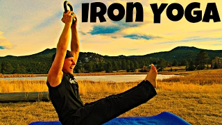 Iron Core Yoga Workout - 2 Dumbbells/Kettlebell and a Yoga Mat