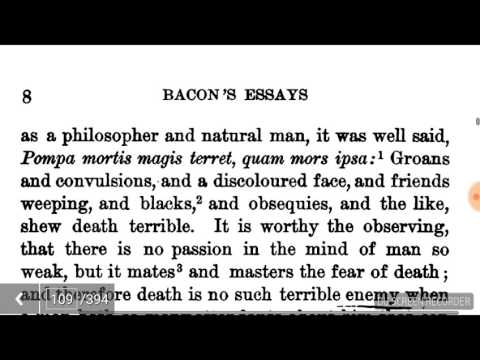 Of death by Francis bacon - YouTube