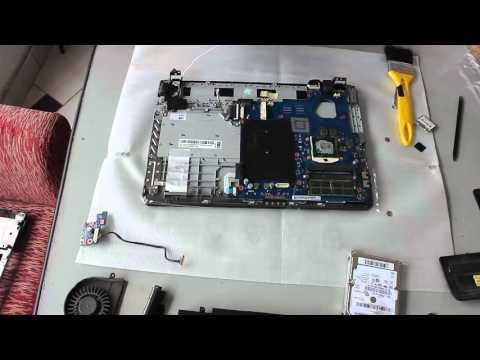 Trocando teclado do notebook Samsung np300e4a
