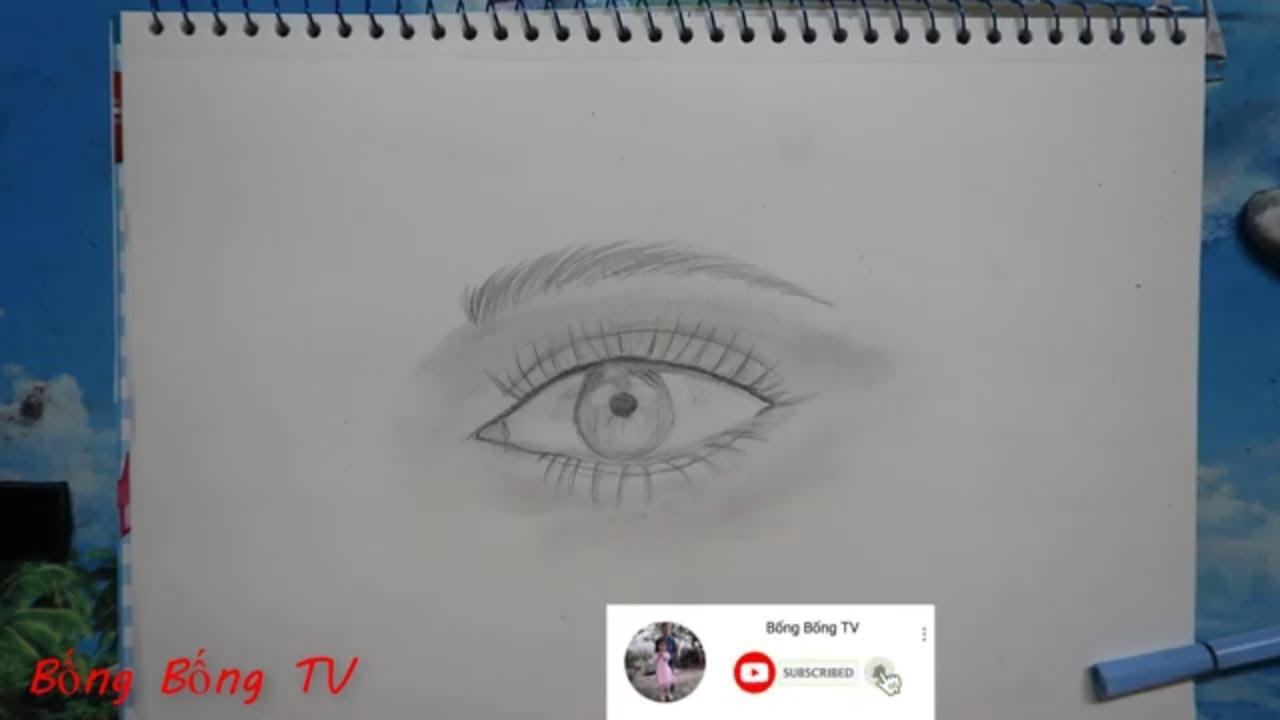 Cách vẽ mắt người bằng bút chì đơn giản rất đẹp