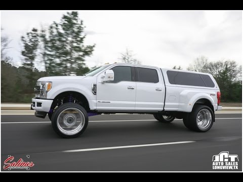 ANOTHER 2017 F350 Dually on a BIG wheel tire set up with a