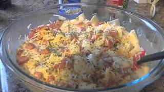 Turkey Sausage Potato Cheese Casserole