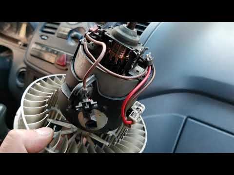 Vito639 Viano замена мотора отопителя  и сопротевления