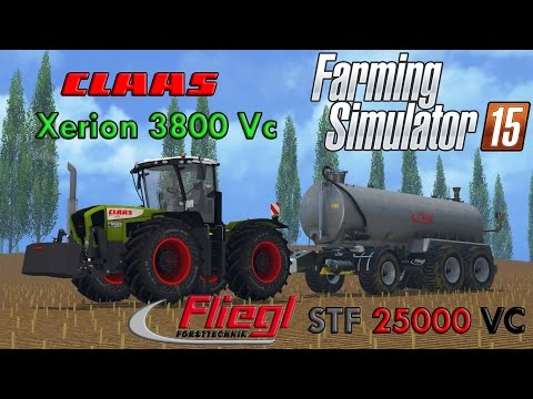 Farming Simulator 15 - Slurry with Claas Xerion 3800 Vc and Fliegl STF 25000 VC