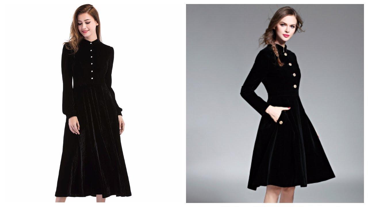 Платье черное бархатное длины макси с запахом и длинными рукавами. Быстрая покупка. Платье черное бархатное длины макси с запахом и.