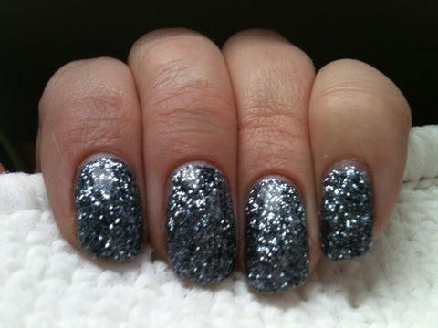 Shellac Effect 'Rockstar' Glitter Nails...On A Budget!!