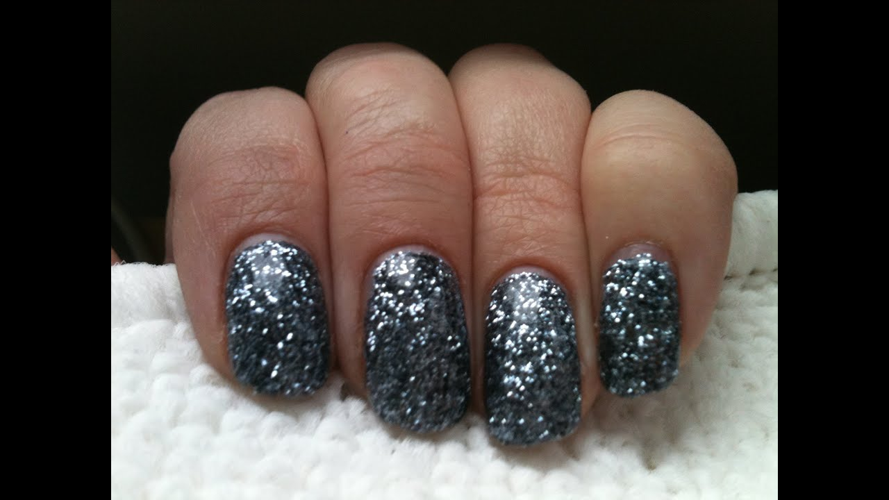 Shellac Effect Rockstar Glitter Nails On A Budget Youtube