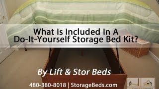 What Is Included In A Lift & Stor Do-it-yourself Storage Bed Kit?