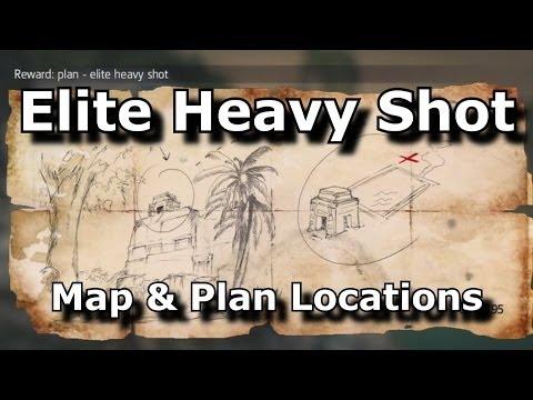 Assassins Creed 4 Black Flag Elite Heavy Shot Plan Location & Map Location