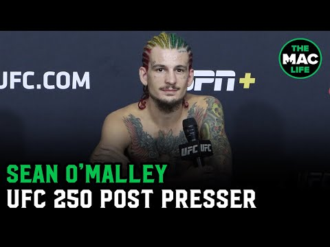 Sean O'Malley reacts to walk off knockout win | UFC 250 post-fight press conference