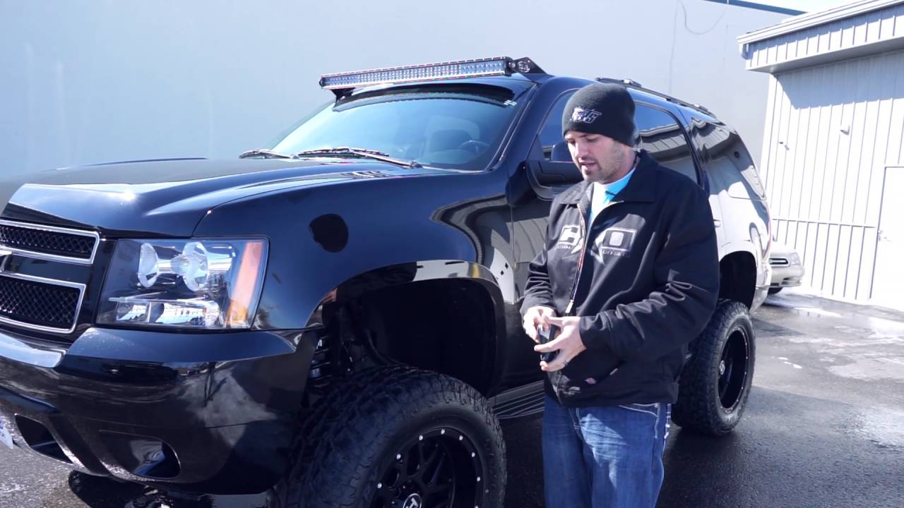 Lifted Dodge Ram >> Spotlight - 2011 Chevy Tahoe with 20x10 Hostile Sprocket on 35's - YouTube