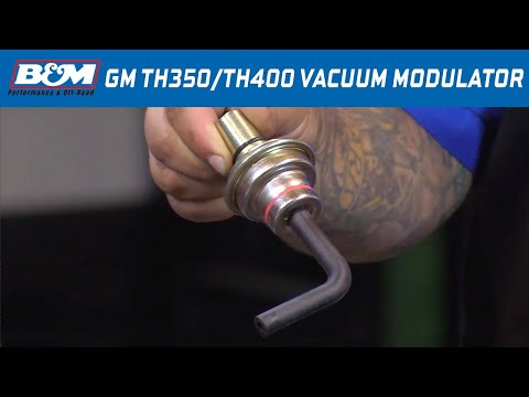 Install: B&M Vacuum Modulator for GM TH350 & TH400 Automatic Transmissions - Part # 20234