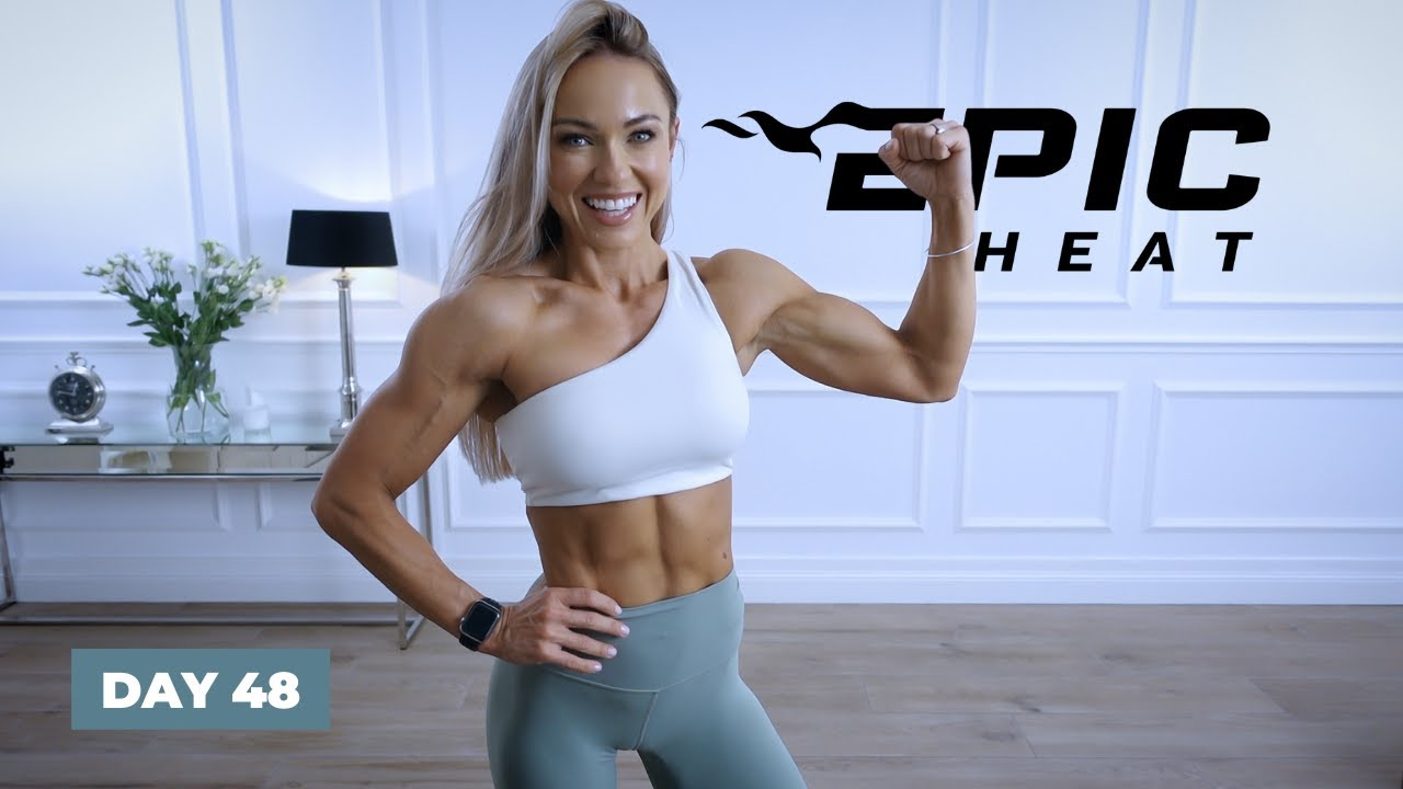 POWERFUL Push Up Workout - Upper Body / No Equipment   EPIC Heat - Day 48