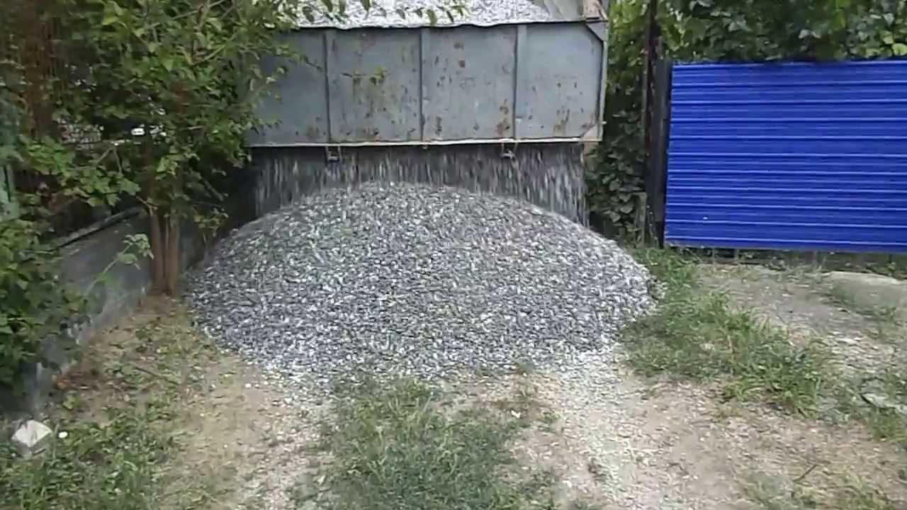 5-тонн щебня фр.5-20, 12.08.2013 - YouTube