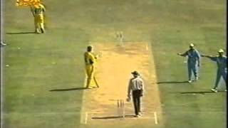 Funny cricket run out, India vs Australia 2001 Pune