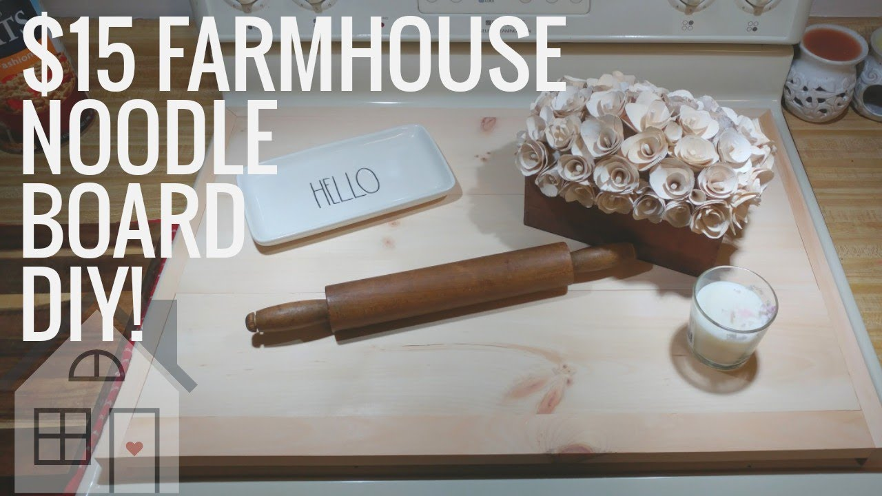 Tutorial Diy Noodle Board How To Make A Stove Cover Farmhouse