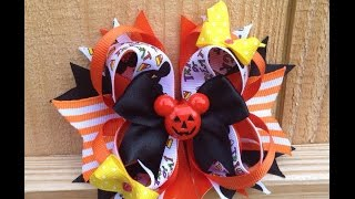 """HOW TO: Make a EASY basic """"Stacked Boutique Bow"""""""