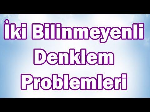 Matematik İKİ BİLİNMEYENLİ DENKLEM PROBLEMLERİ | 8. Sınıf (CANLI)