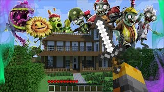 GIANT PLANT VS ZOMBIES APPEAR IN MY HOUSE IN MINECRAFT !! Minecraft Mods