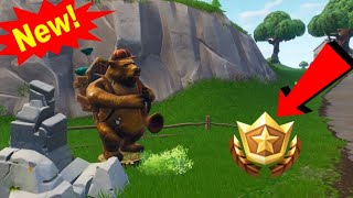 *NEW* Search Between a Bear, Crater and Refrigerator Shipment Free Tier {Week 8} (Fortnite Tutorial)