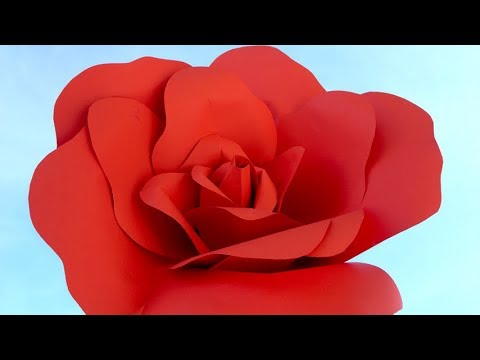 Paper flower making easy at home Red Rose DIY
