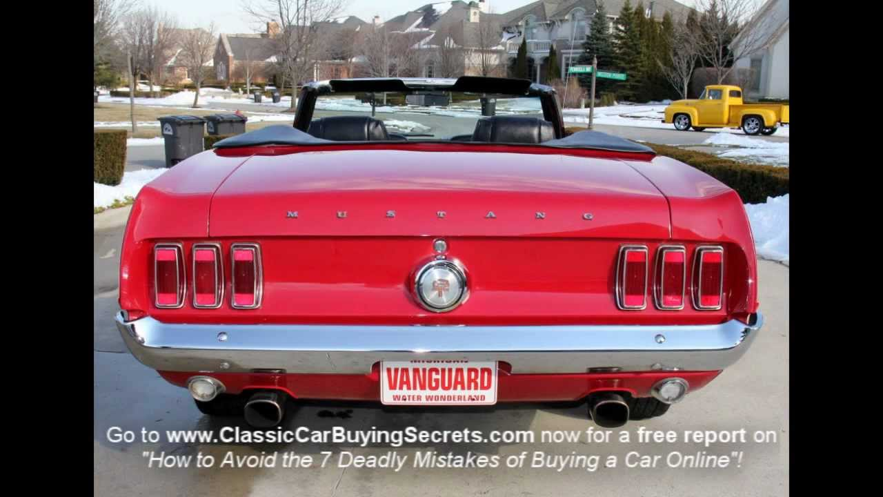 1969 Ford Mustang Convertible Classic Muscle Car For Sale