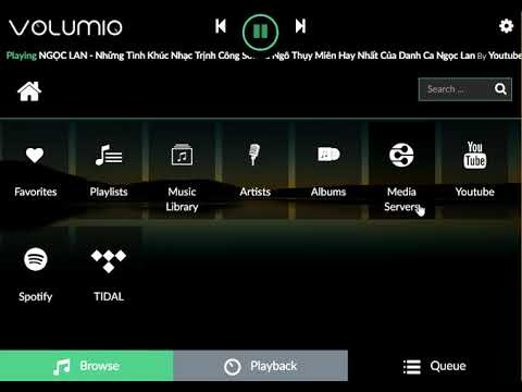 Volumio + Spotify + Tidal + Youtube = Hifi music server
