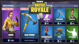 "FORTNITE ""SHOP"" 04/08 SKIN OMBRA - ASCIA CLUTCH - BREAKDANCE"