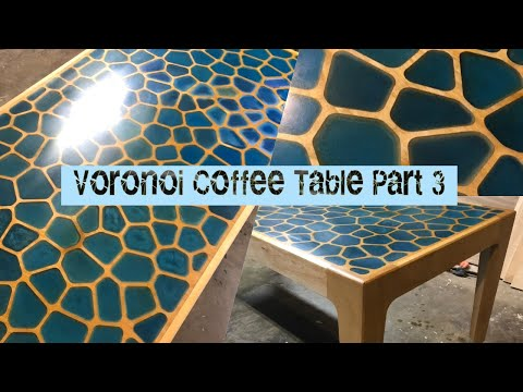 Geometric Pattern Coffee Table pt3. How NOT to make an epoxy resin table