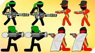 Нечестная ВОЙНА СТИКМЕНОВ - Stickman Army Team Battle # 7 Оффлайн игры