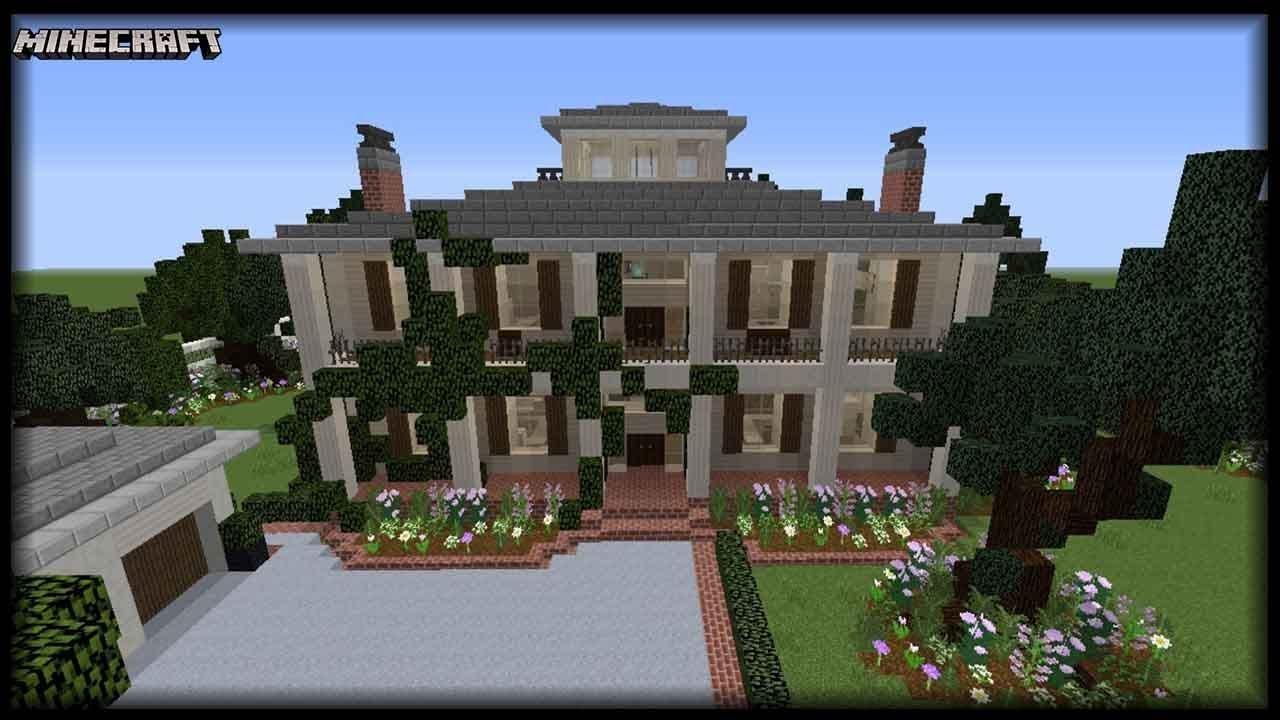 Minecraft - How To Build A Modern Antebellum Mansion!