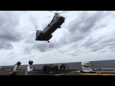 USS Essex resupplies at sea