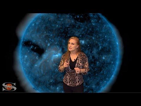 A Bright Region Fizzles & A Dark Hole Looms: Solar Storm Forecast 04-05-2018