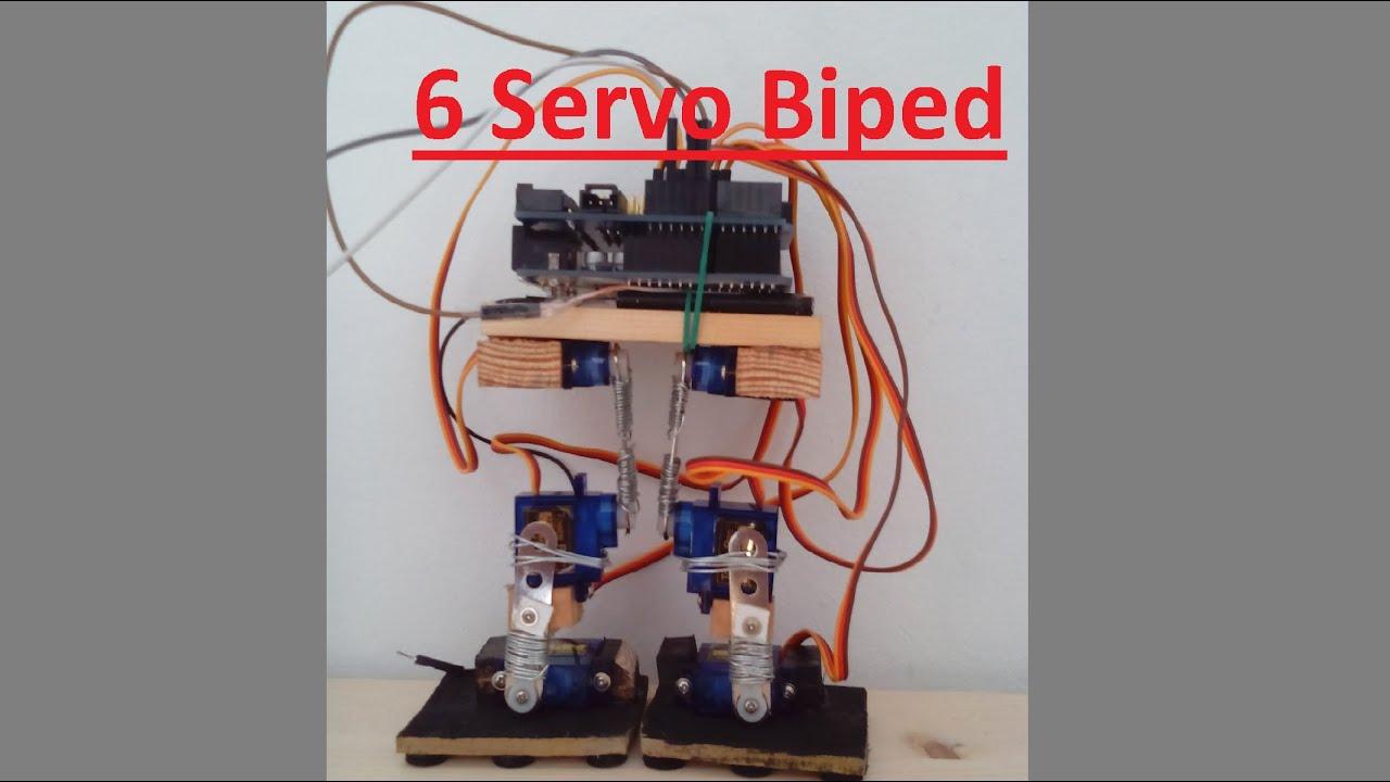 Servo biped robot arduino youtube