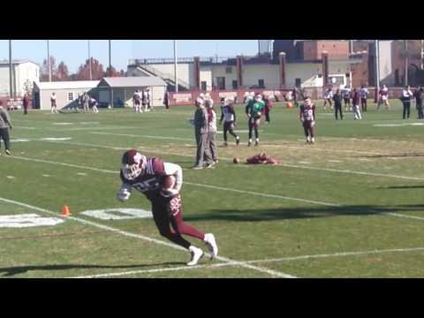 MSU wide receiver drills