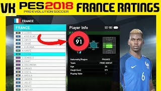 PES 2018 Online Beta France Player Stats Ratings Skills