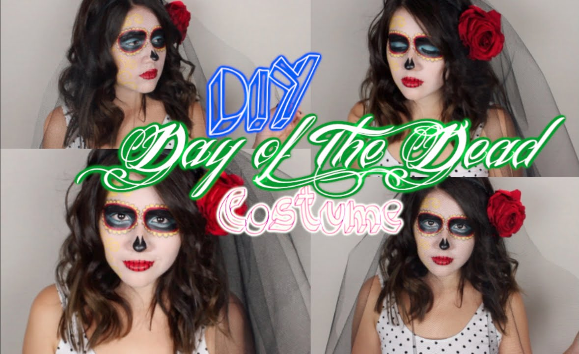 Diy day of the dead inspired makeup veil and costume youtube diy day of the dead inspired makeup veil and costume solutioingenieria Images