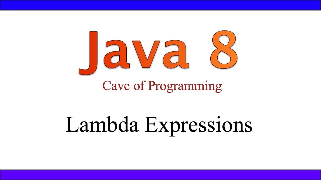 JAVA 8 LAMBDA EXPRESSIONS EBOOK