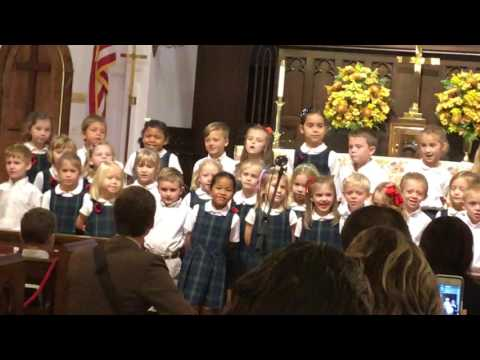 Sweet K & 1st Graders Singing at Ambleside School of Ocala