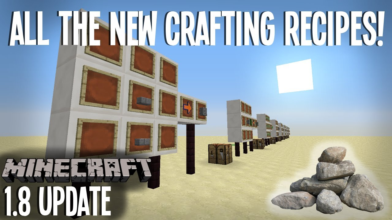 Crafting Recipes for all the NEW 1.8 Blocks! - Snapshot ...