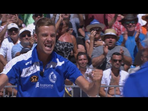 Mondial à Pétanque 2017 à Marseille : Dylan Rocher vs Falimanantsoa Angelo en intégralité