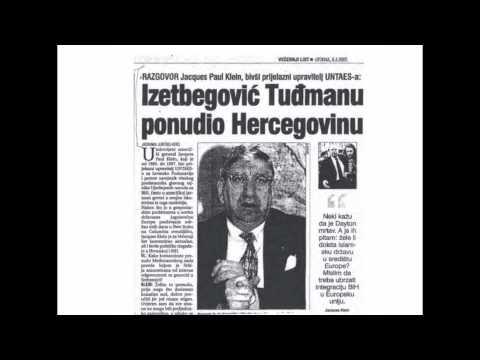 Jacques Paul Klein: Izetbegović Tuđmanu ponudio Hercegovinu