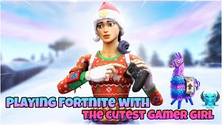 Playing Fortnite with the cutest gamer girl - Giveaway Announced -