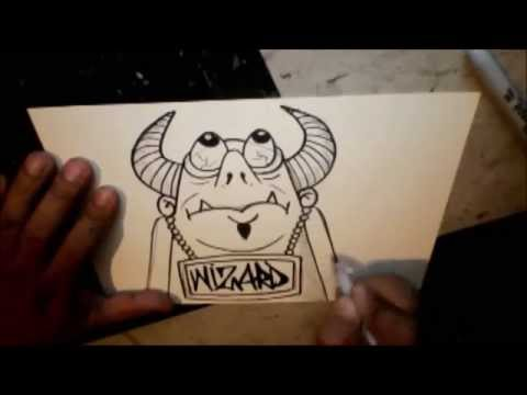 How To Draw Devil With Poppin Eyes By Wizard Youtube